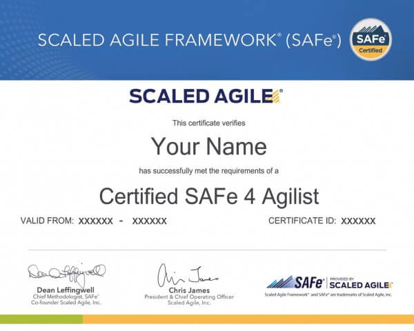 What are the Scaled Agile Principles?
